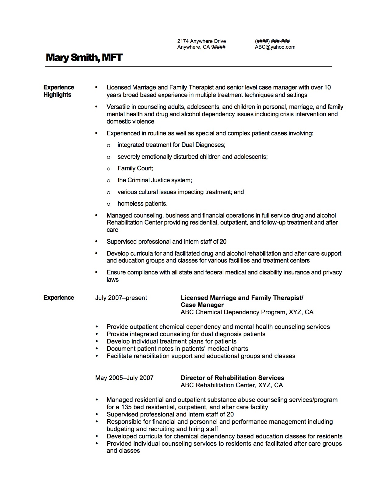 Click Here For A Resume Sample.  Sample Coaching Resume